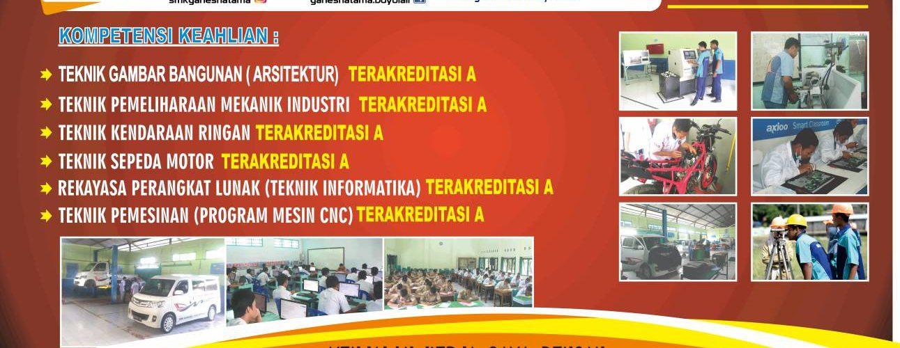 Penerimaan peserta didik baru SMK Ganesha Tama Boyolali Tahun 2018